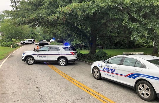 Greenville police were in the area of West Circle Avenue to search for a domestic violence suspect Tuesday morning.