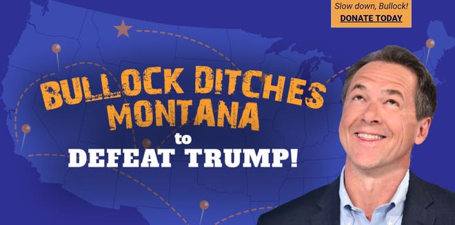 Website funded by the Montana Republican State Central Committee is critical of Democratic Gov. Steve Bullock's run for president.