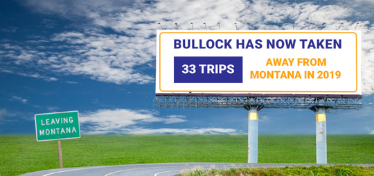 Website funded by Montana Republican State Central Committee features petition calling on Gov. Steve Bullock to reimburse taxpayers for trips out of state.