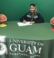 The University of Guam Women's Basketball Team signed Alannah Crame to a UOG Athletic Letter of Intent and partial tuition scholarship to play basketball in 2019-2020 for the Lady Tritons.