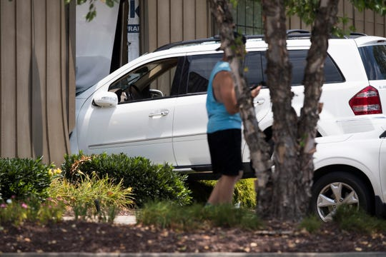 A car is seen in the Cracker Barrel on South Mall Road in Knoxville Tuesday, July 9, 2019.