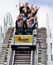 The Hoosier Hurricane roller coaster at Indiana Beach.