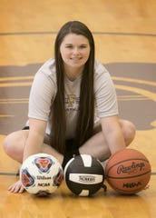 Fowlerville senior Jackie Jarvis, a three-sport standout, repeated as Livingston County female Athlete of the Year.