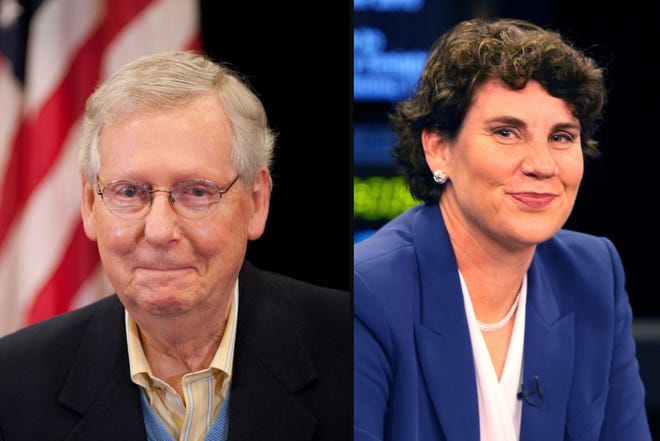 Amy McGrath plans to take on US Senate Majority Leader Mitch McConnell in 2020.