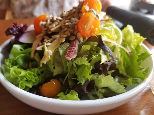 When on vacation, look for healthy options on menus like this salad from The Hideaway in Maui.