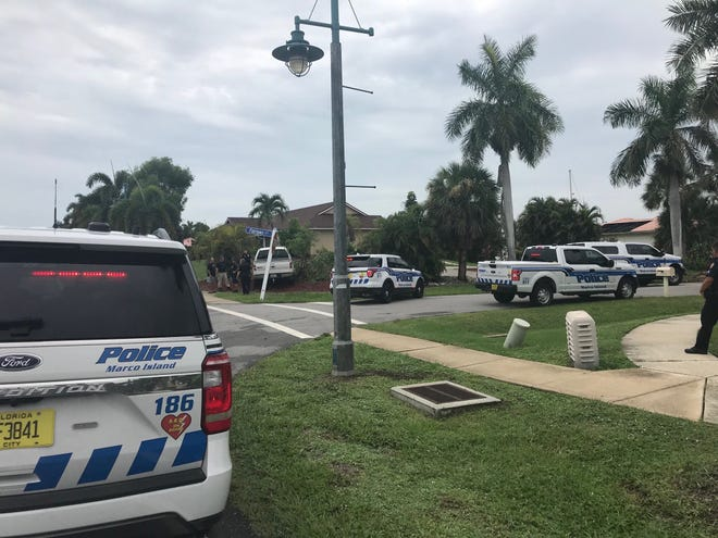 At least four Marco Island PD vehicles arrived at the scene of the crash.