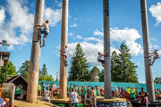 Over 100 competitors will compete at the Lumberjack World Championship.