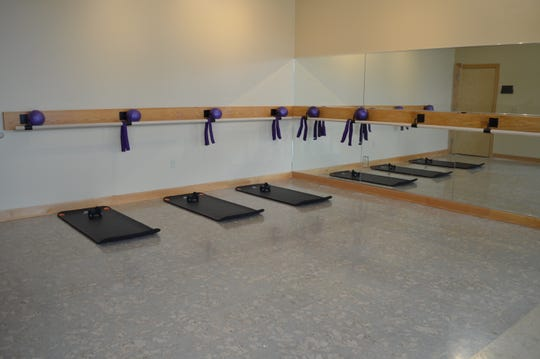 The over 2,000-square-foot space has two studios, so two classes can go on, simultaneously.