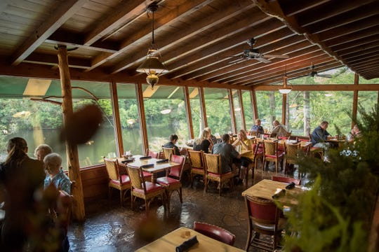 The Ishnala Supper Club dining room, which overlooks the water.