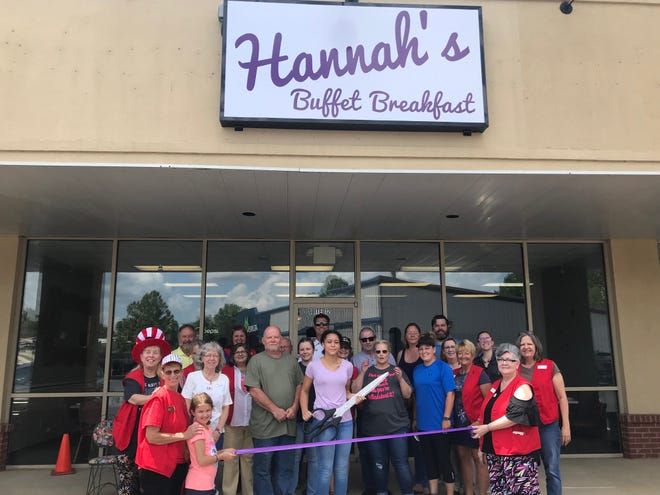 The Mountain Home Area Chamber of Commerce recently cut the ribbon for Hannah's Buffet Breakfast. Hannah's Breakfast Buffet offers great quality breakfast in a cozy family environment.Open Tuesday through Saturday from 6 a.m. to 2 p.m., visit them on Facebook @HannahsBuffetBreakfast or call (870) 424-4088. It is located at 1310 U.S. Highway 62 West #12 in the West Creek Center on the corner of U.S. Highway 62 and Bomber Blvd.