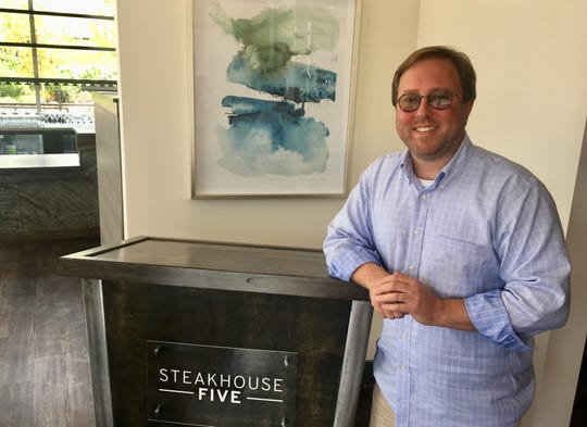 "Chef Mitchell Murphree will open Steakhouse Five, which he calls ""a classic steakhouse."""