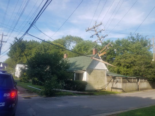 Franklin experiencing power outages after downed line