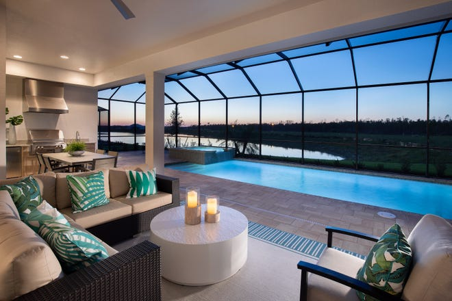 The Wisteria of Naples Reserve includes a spacious outdoor living area.