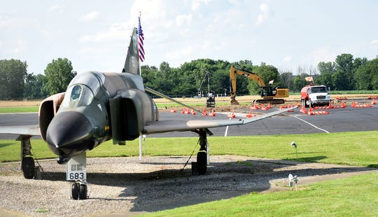 Construction at the Newark-Heath-Licking County Airport will increase the separation from the taxiway and runway to comply with Federal Aviation Administration guidelines.