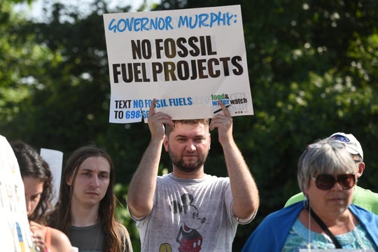 The New Jersey Sierra Club was joined by other environmental and advocacy groups in a rally earlier this summer against fossil fuel projects in North Jersey.