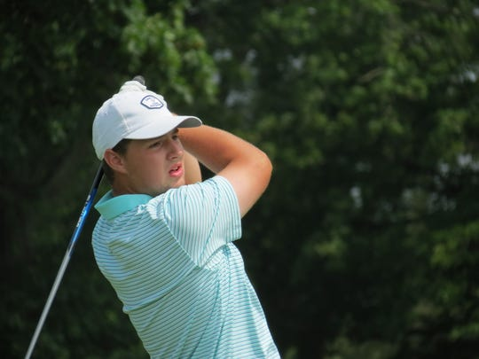 Jack Wall, last year's runner-up, is tied for second after the opening round of the 118th New Jersey Amateur Golf Championship at Neshanic Valley Golf Course in Branchburg on Tuesday, July 9, 2019.