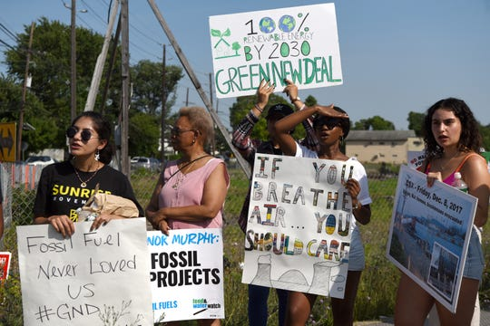 The New Jersey Sierra Club was joined by other environmental and advocacy groups in a rally against fossil fuel projects in north Jersey. The event was held on the 6th anniversary of the fracked crude oil train derailment and explosion in Lac Megantic, Canada which killed 47 people. The rally was held on the Bergen Turnpike in Ridgefield Park on July 9, 2019.