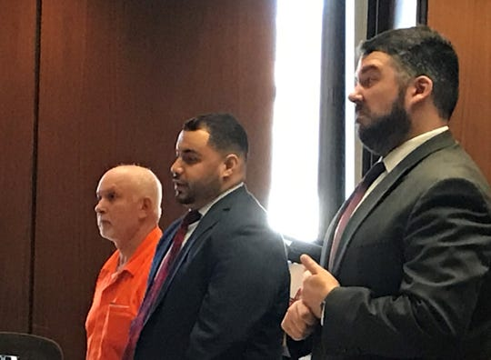 Edilberto Torres appears before Judge Martin Cronin for a detention hearing on Tuesday, July 9, 2019. Torres stands accused of sexually assaulting an 11-year-old student at his Bloomfield karate dojo.