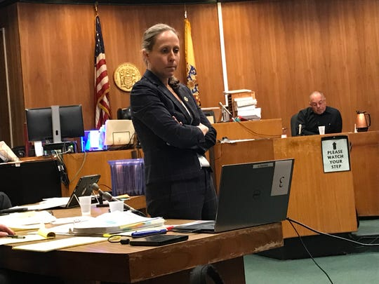 Assistant Proscutor Jennifer Fetterman showed the jury surveillance video with  the QuickChek security expert, Rafael Torres  on the witness stand.