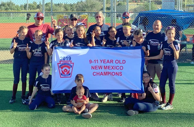 The Deming Minor League (ages 9-11) Division All Stars captured the New Mexico Little League State Softball Championship with a 3-0 record and a 23-5 championship win over South Valley All Stars of Albuquerque, NM. The state tournament was held over the weekend at Scott Park in Silver City, NM.