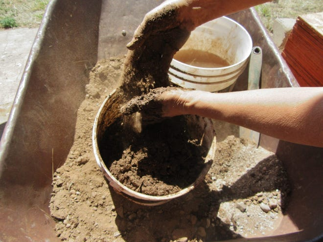 Potter and builder Mary Giardina is offering Adobe Building / Mud Immersion, a five-day workshop on July 15-19, part of the Silver City CLAY Festival.