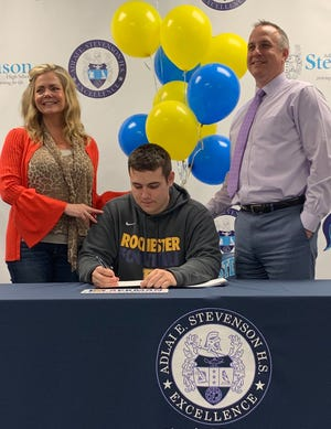 Stevenson's Carter Ackman has signed to play football at the University of Rochester.