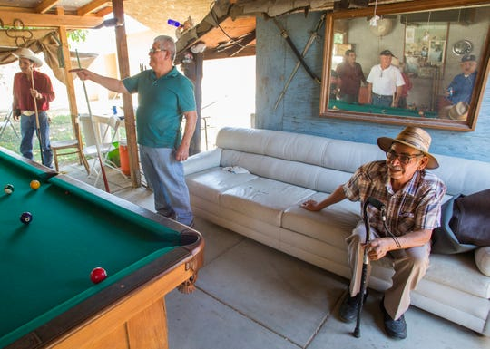 The group of mostly Latino retirees said they lament that they can no longer play pool at the Indio Senior Center.