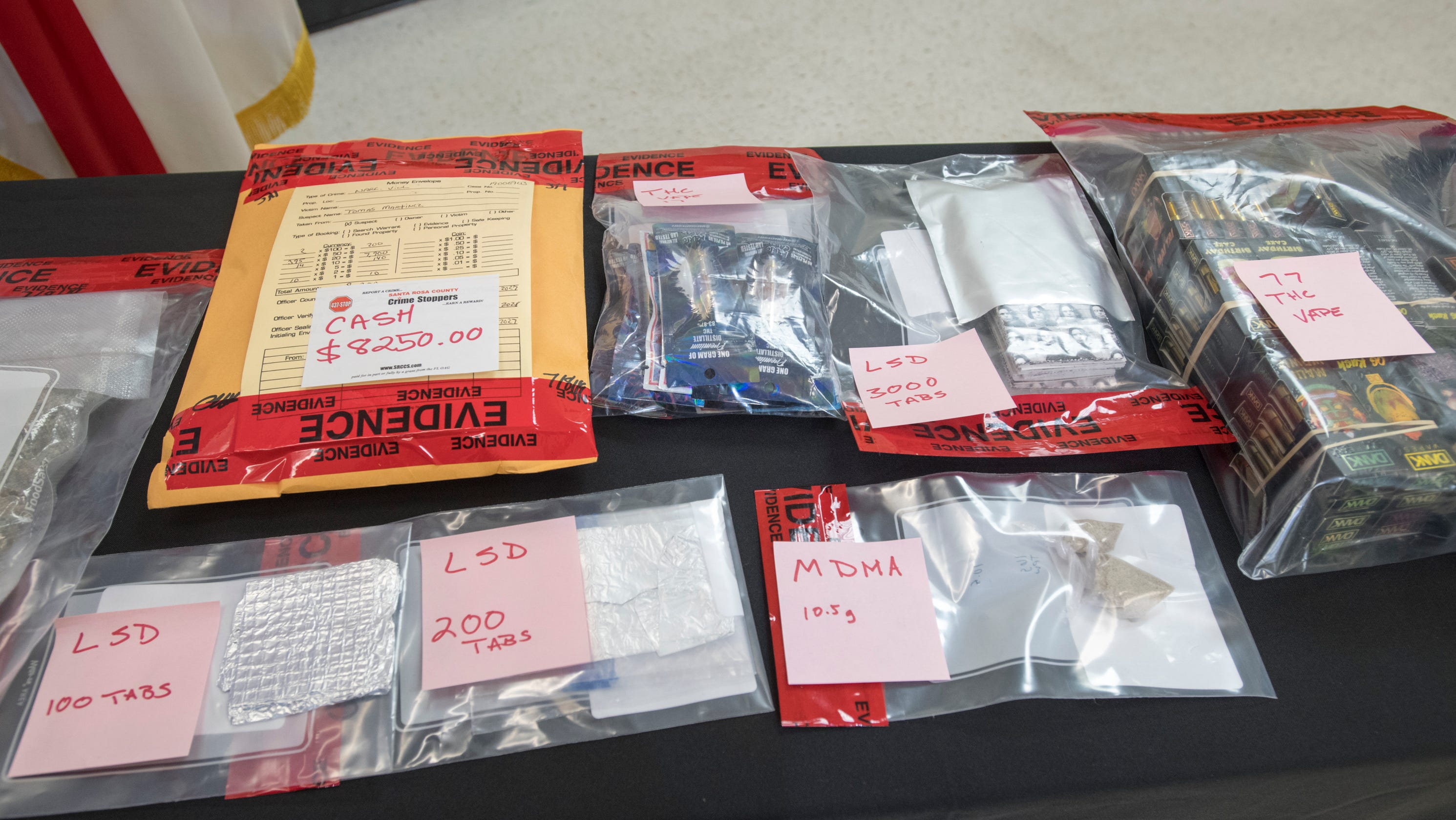 Pensacola men arrested in $40,000 drug bust that included 3,300 tabs