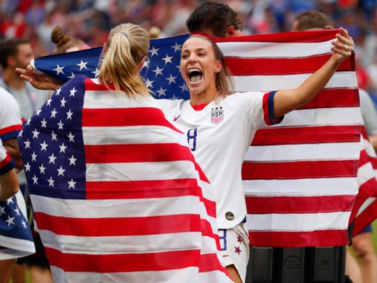 United States midfielder Julie Ertz (8) went to Mesa Dobson High.