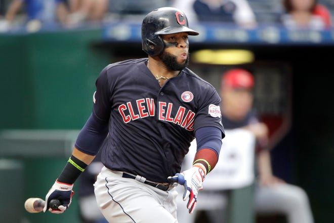 Carlos Santana has gone from a lost year in Philadelphia to an All-Star season in Cleveland,.