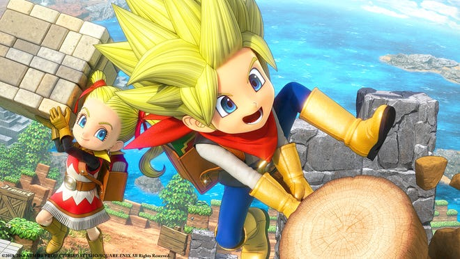 The male and female builders of 'Dragon Quest Builders 2' for the Sony PlayStation 4 and Nintendo Switch.