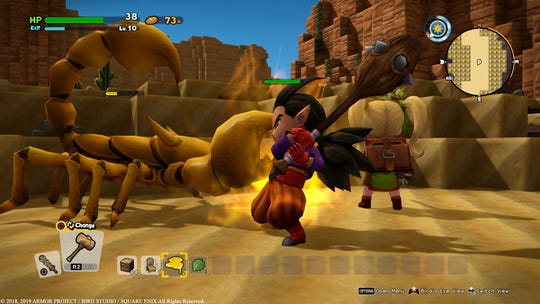 The powerful Malroth is a trusty ally to have for fights in 'Dragon Quest Builders 2' for the PS4 and Nintendo Switch.
