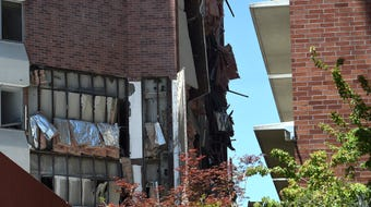 University of Nevada's Argenta and Nye Halls suffered extensive damage from an explosion last Friday, July 5, 2019.