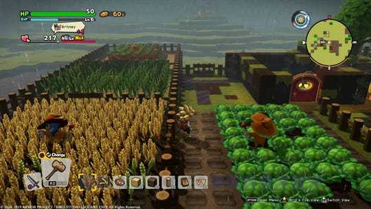 Planting crops is a new addition to 'Dragon Quest Builders 2' for the PS4 and Nintendo Switch.