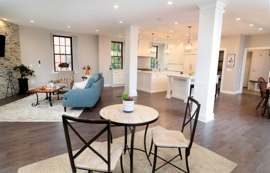 The open floor plan is a focal point of the main level.