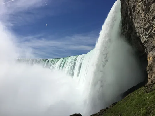 A man survived after being swept over the Canadian Horseshoe Falls in Niagara Falls' Tuesday, July 9, 2019.