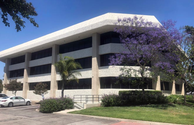 FILE - This May 24, 2019, file photo shows the building housing the California Contract Cities Association in Cerritos, Calif. Assemblywoman Cristina Garcia, D-Bell Gardens, has introduced a bill that prohibits associations such as CCCA from using public money for anything other than lobbying and educational seminars. (AP Photo/Frank Baker, File)