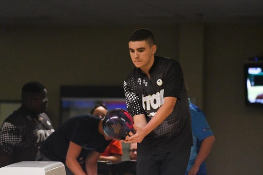 Jacob Wilson practices at Millsboro Lanes before he will be heading to USBC Junior Gold Championships in Detroit, Michigan.