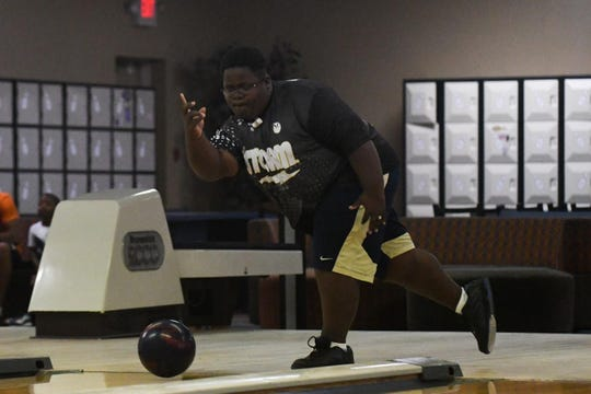 Juelius Ricketts practices at Millsboro Lanes before he will be heading to USBC Junior Gold Championships in Detroit, Michigan.
