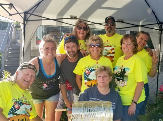 Members of the Friends of St. Jude of Delmarva group were at the Brew River restaurant on June 19 to raise money for their cause. They are hosting a Rollin for a Cure ride Saturday, July 13, to benefit the hospital.