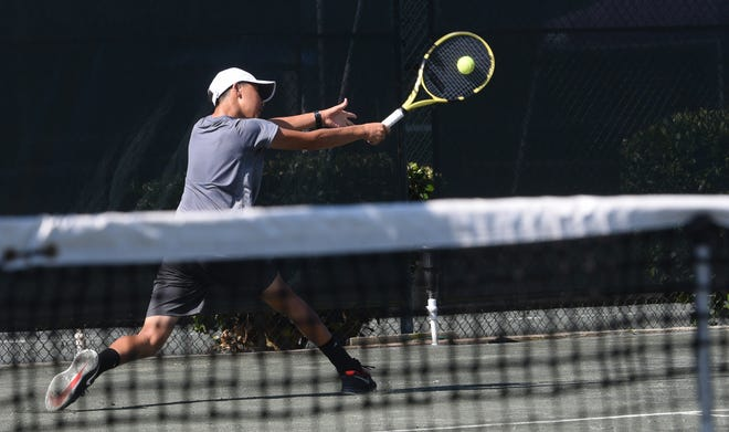 Tuesday morning during the 2019 USTA Intersectional 16s Team Championship at Pierremont Oaks Tennis Club.