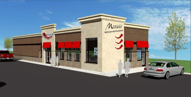 This is a rendering of the second Maria's Mexican Restaurant, which will be located at 4601 S. Campbell Ave.