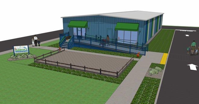 Rendering of the Blue Ridge Children's Museum in Waynesboro
