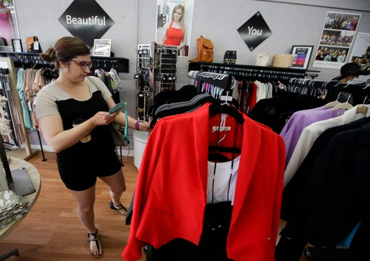 Tana De Lonay shops on Friday, July 5, 2019, at Bria Bella in downtown Stevens Point, Wis. Shopko's departure in April leaves residents and business owners wondering what comes next.  Tork Mason/USA TODAY NETWORK-Wisconsin