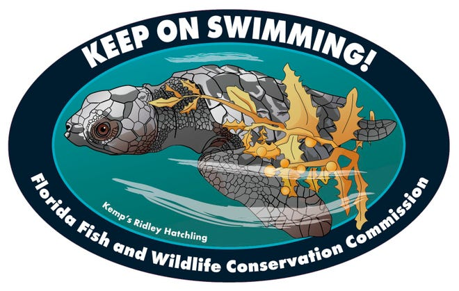 Every July the FWC reveals sea turtle and manatee themed decals to spotlight conservation issues. The waterproof decals are available with a $5 donation