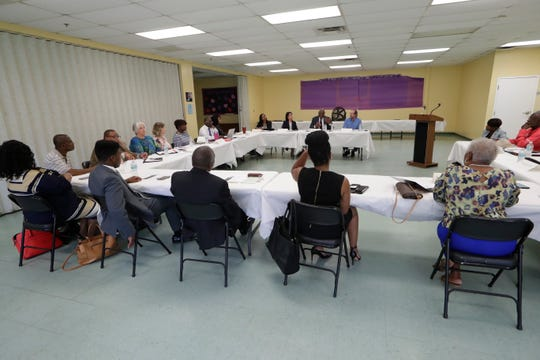 A 10-member task force created to remove racist language from property covenants in some Tallahassee neighborhoods met at Bethel Family Life Center Tuesday, July 9, 2019.