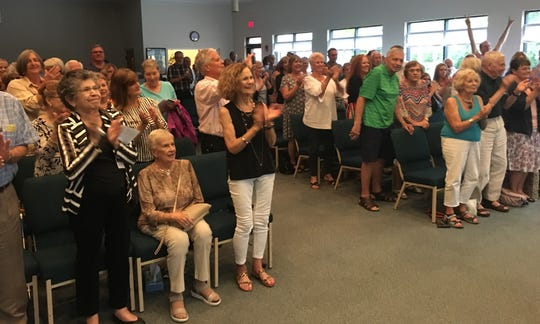 "People filled every seat at the Unity Spiritual Center of Vero Beach for the June 29 ""Have Piano will Duel"" concert. Each ensemble set was met with applause, even a few shouts from personal fans of the musicians, and standing ovations were scattered throughout the performance from the enthusiastic crowd."