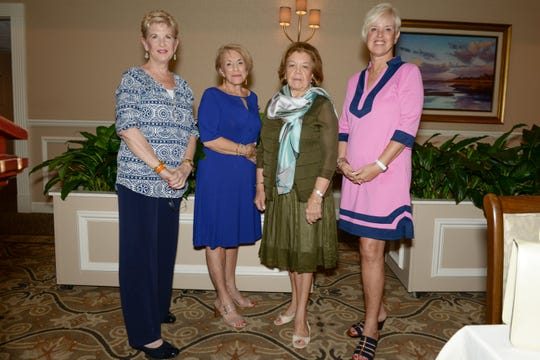 The 2019/2020 Indian River Guild officers, from left, Christine Endres, secretary; Mackie Duch, treasurer; Henriette Churney, president; and Diane Wilhelm, vice president.