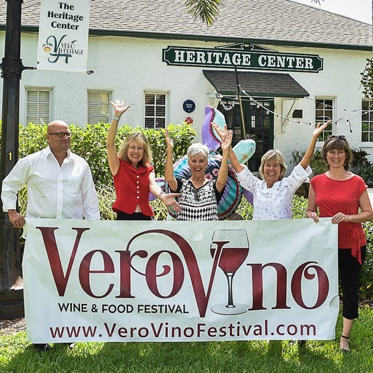 Vero Vino Wine & Food Festival Committee members Glenn Ferdinand, left, Tammi Bursick, Barbara Petrillo, Patti Carlson and Susan Rane. The 2019 festival is slated for 4 to 6 p.m. Nov. 23 at the Heritage Center, 2140 14th Ave., Vero Beach. This year's beneficiary is the Education Foundation of Indian River County. Check for details and contact information at verovinofestival.com.