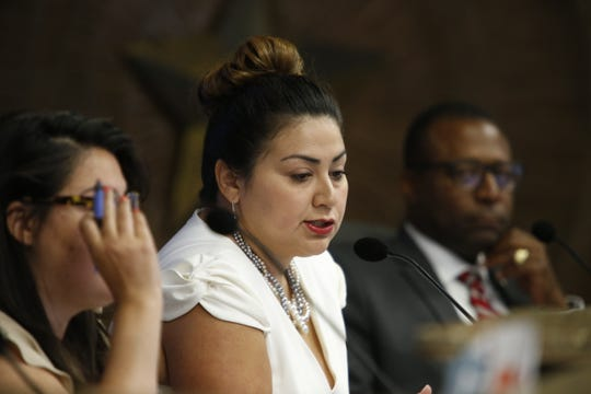 District 3 city Rep. Cassandra Hernandez is shown during a City Council meeting on Tuesday, July 9, 2019.